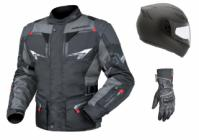 Riding gear. Helmet, Jacket and gloves.